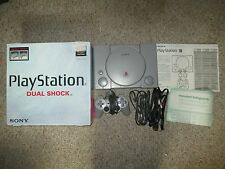 Sony PlayStation 1 DUAL SHOCK Gray Console Complete in Box PS1 #72 Great Shape