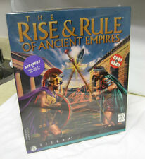 The Rise & Rule of Ancient Empires PC Big Box CD WIN 95 3.1 Sierra vtg NOS 1996