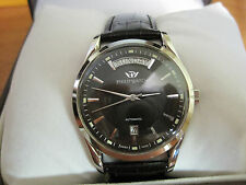 mans  NIB stainless steel PHILIP  sunray  automatic big day, date watch
