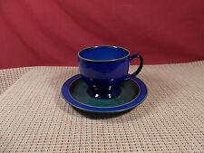 Denby China Metz Pattern Cup & Saucer Set Blue/Green