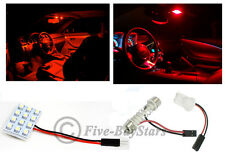 1x T10 & Festoon Universal 12 SMD Plasma Red LED Panel Interior Dome Map Light