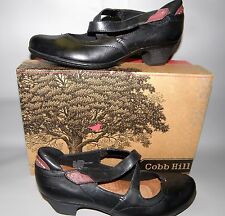 NEW Women's Cobb Hill Avery, Size 9 Wide Black Leather Mary Jane Heels
