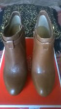 Coach Salene Cow Safari Ankle boots size 8M Brown color