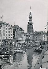 DANEMARK c. 1950 - Canal  Braques Église Saint-Nicolas Copenhague - Div 7777