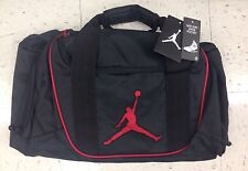 Sale Nike Air Jordan Black Duffel Bag Black Red Logo Duffle Gym Workout Bag