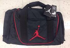 Sale Nike Air Jordan Black Duffel Bag Black Red Logo Duffle Gym Workout Bag