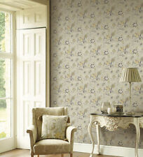 Victorian Jacobean Wallpaper GC29829 Gray & Yellow Double Roll FREE SHIPPING