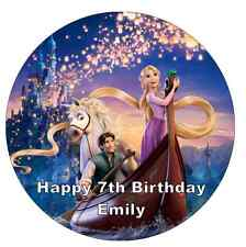"Disney Princess Tangled Personalised Cake Topper Edible Wafer Paper 7.5"" ."