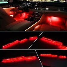 2X9LED Car Interior Decorative Floor Light Lamp Auto Cigarette Lighter Red Light