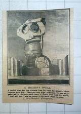 1917 Soldiers Spoils Shell Case Jugs Gas Mask And Case