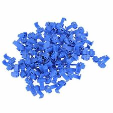 100Pcs Blue Snap On Crimp Wire Electrical Cable Connectors Splice Lock Clamp