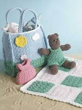 vacation and teddy set toy crochet pattern 99p