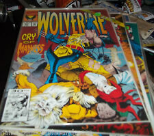 WOLVERINE COMIC # 51 1st series+ MySTIQUE +LOGAN