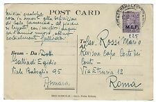 M.E.F. MEF 3 D isolato SU POST CARD ASMARA 1945 cod.c.7317