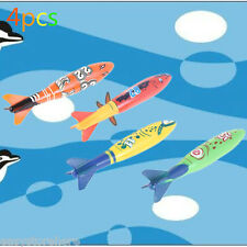 Pack4 Underwater Games Torpedo Rocket Swimming Pool Toy Swim Dive Sticks Holiday