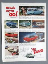 Orig 1952 Ford 4 Model Ad WONDERFUL WAY TO GO YOU CAN PAY MORE CAN'T BUY BETTER