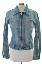 Miss Sixty Womens Denim Jacket Size 12 Medium Blue Cotton