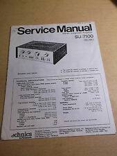 Panasonic Technics Stereo Amp SU-7100 Service Manual *FREE SHIPPING*