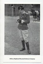 #GWS/M195 Scottish Regiments, Officer Highland Mounted Infan - Military Postcard
