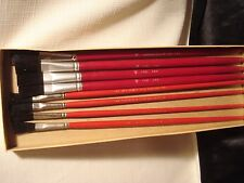 Vintage...Lot..Of..8..Artist..Paint...Brushes...German..&..U.S.A.