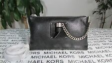 NWT Michael Kors Leather James Large Zip Clutch or Crossbody Bag Black