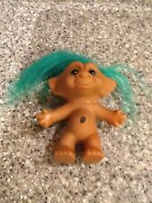 "VTG 90s ACE Treasure Troll 4.5"" Green Hair/Eyes And Green Jewel Belly Button"