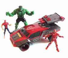 Marvel Universe avengers ironman véhicule avec Spiderman & figures set lot Hulk
