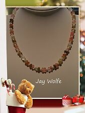 UNIQUE WATERMELON RONDELLE BEADED HANDMADE NECKLACE JEWELLERY @ JAY WOLFE
