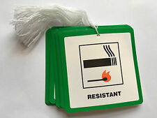 50 Fire Resistant Flame Retardant labels Swing Tickets Tags Furniture Upholstery
