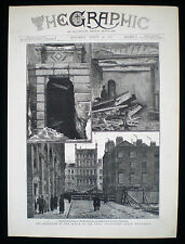 FENIAN DYNAMITE CAMPAIGN BOMBING OF WHITEHALL LONDON IRB VICTORIAN PRINT 1883
