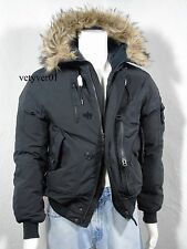 NWT Polo RALPH LAUREN Military/Combat Hooded Down Bomber/Jacket Black size XXL
