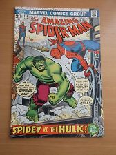 MARVEL: THE AMAZING SPIDER-MAN #119, PART I OF SPIDEY VS HULK, 1973, VF (8.0)!!!