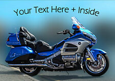 PERSONALISED HONDA GOLDWING MOTOR CYCLE BIRTHDAY ANY OCCASION CARD Illus inside