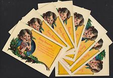 8-Christmas-Comic-Humor-Foxey Genevive-Funny Woman-Antique Postcard Lot