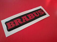 1 Adesivo Resinato Sticker 3D BRABUS Smart Nero rosso