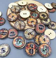 50PCS 2 Holes wooden buttons for sewing clipbook decorative handicraft 20 mm