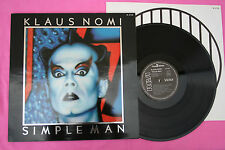 lp 33T / klaus Nomi / Simple Man / RCA / 1982 / PL37702 / EX