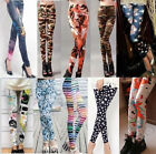Sexy Women Colorful Galaxy Print Leggings Stretchy Jeggings Pencil Skinny Pants