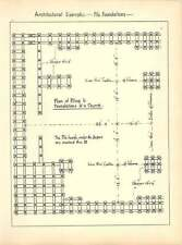 1898 Plan Of Piling To Foundations Of Church Sketch