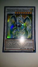 YUGIOH STARDUST SPARK DRAGON LIMITED EDITION ULTRA GOOD YF05-EN001