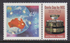 2001 Australia Wins The Davis Cup Over France - MUH With Personalised Tab