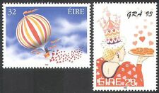 Ireland 1993 Greetings/Air Balloon/Flight/LOVE/Hearts/Animation 2v set (n14288)