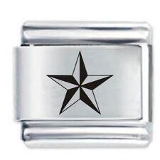 NAUTICAL STAR - Daisy Charms by JSC Fits Classic Size Italian Charm Bracelet
