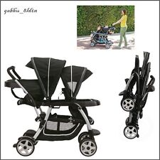 Baby Infant Toddler Kids Stroller Sit Stand Seat Double Tandem Travel 12 Options