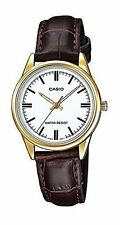 Casio Women's Quartz Gold Tone Stainless Steel Brown Leather Watch LTPV005GL-7A