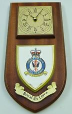 RAF ROYAL AIR FORCE BOMBER COMMAND QC HAND MADE TO ORDER REGIMENTAL WALL CLOCK