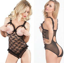 Dream Girl sexy lingerie open crotch lace exotic chmeise teddy dress one piece