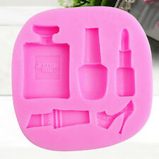 Silicone Perfume Bottle Lipstick Shoes Cake Decorating Mould Kitchen Baking Mold