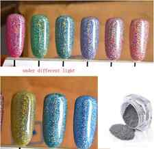 2016 Nails Effect Holographic chrome powder glitter laser rainbow dust NEW - HOT