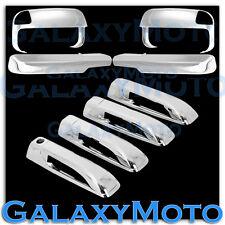 10-15 Dodge Ram 2500+3500+HD Chrome Towing Mirror+Arm+4 Door Handle Cover Combo